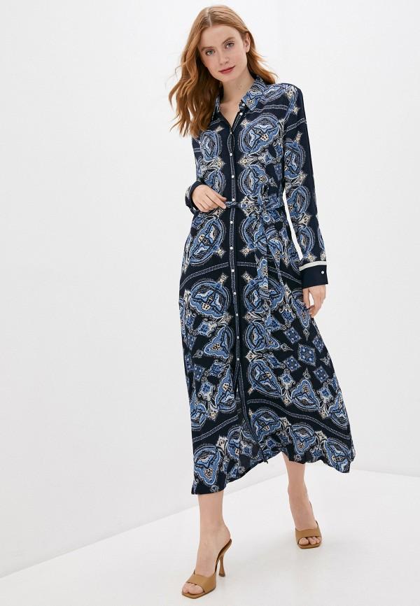 женское платье part two, синее