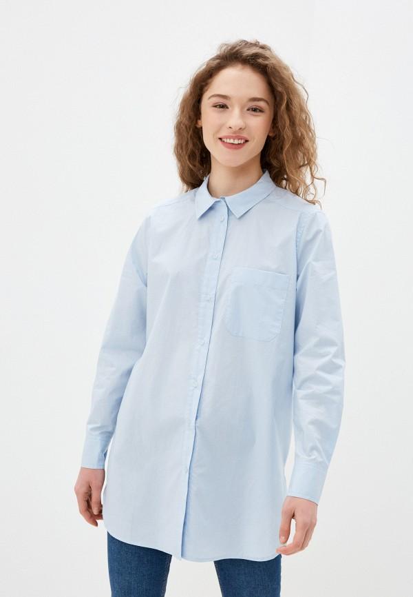 женская рубашка с длинным рукавом part two, голубая
