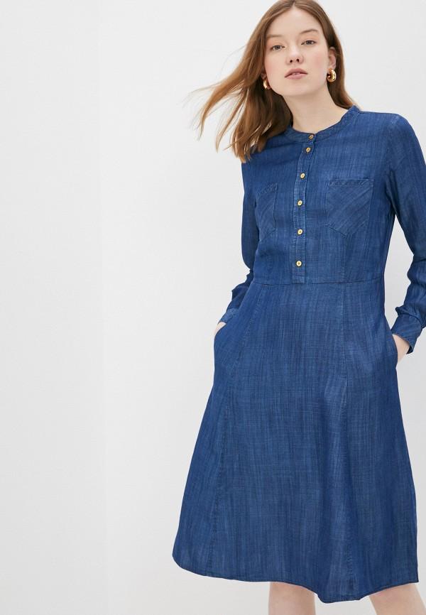 женское джинсовые платье part two, синее