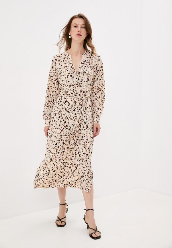 женское платье part two, бежевое