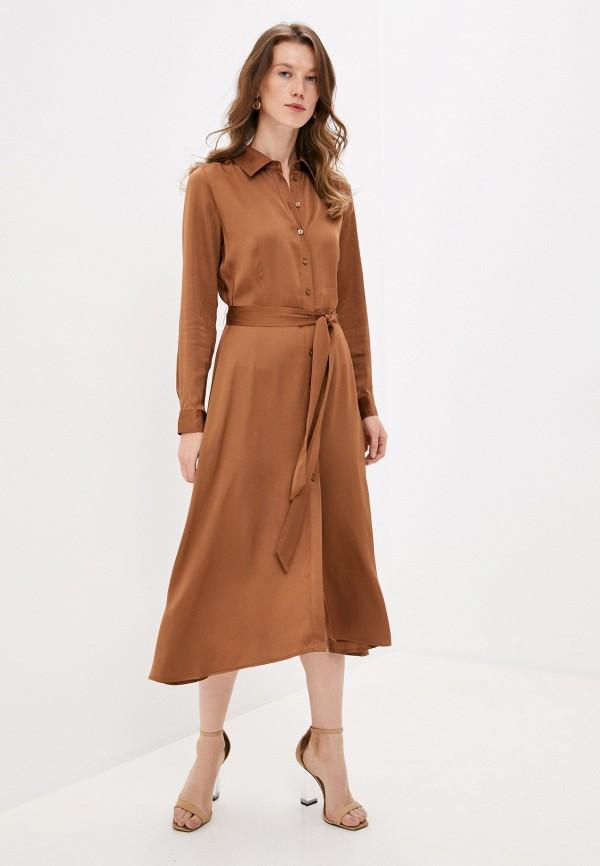 женское платье part two, коричневое