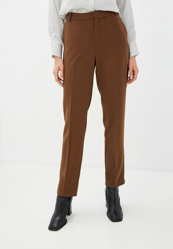 женские классические брюки part two, коричневые