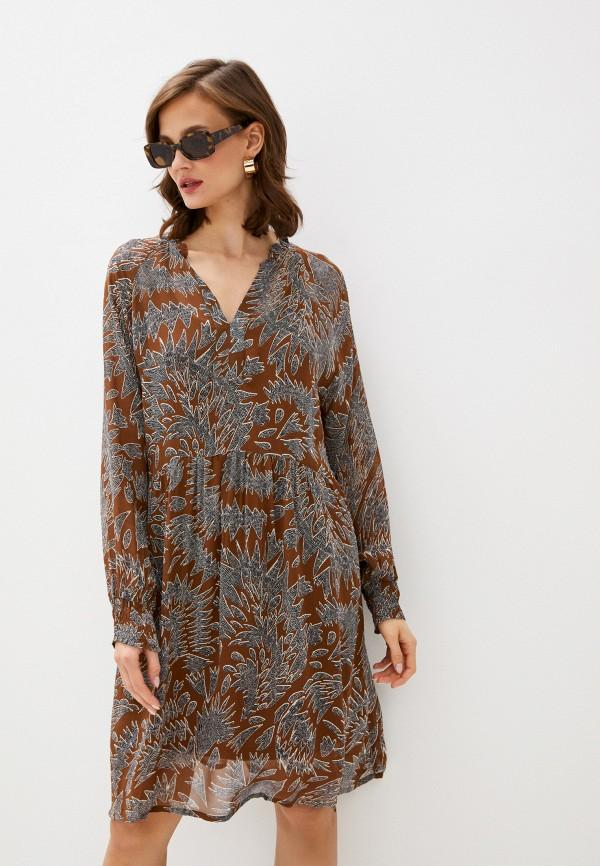 женское повседневные платье part two, коричневое