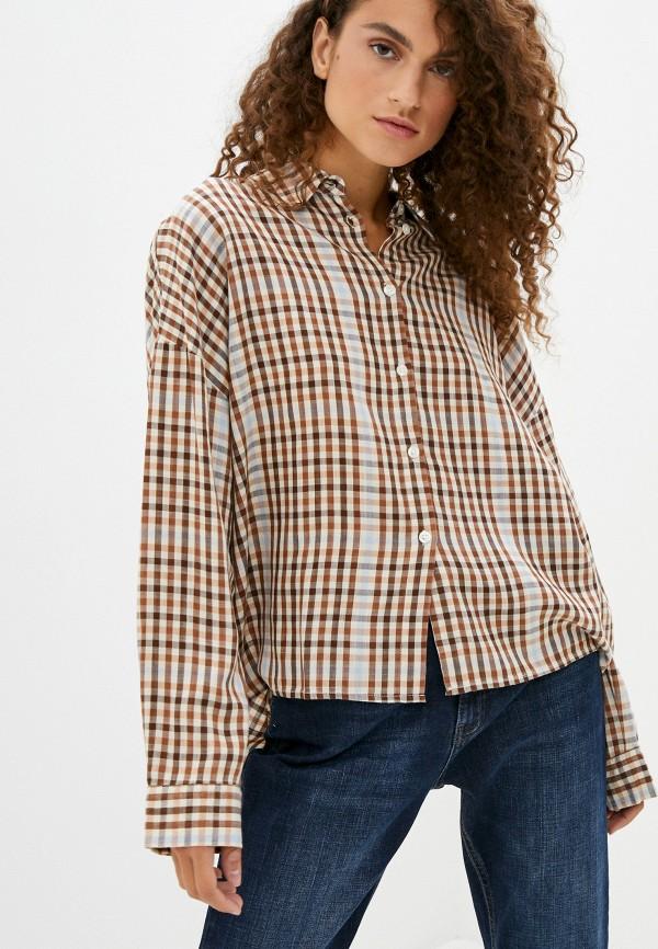 женская рубашка с длинным рукавом part two, бежевая