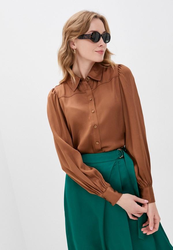 женская блузка part two, коричневая