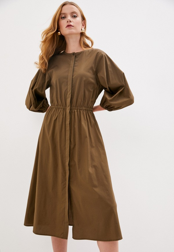 женское повседневные платье part two, хаки