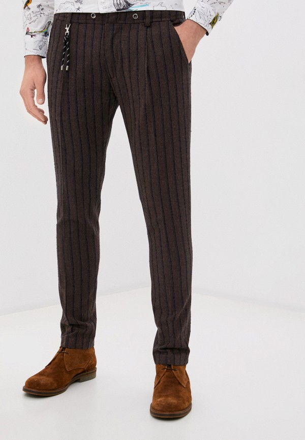 мужские зауженные брюки paul martin's, коричневые