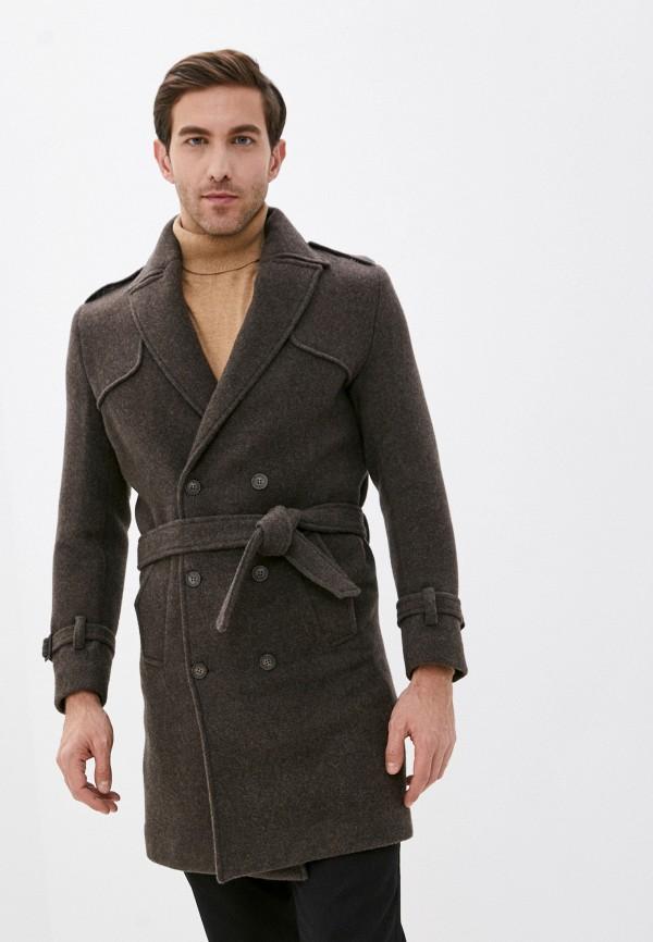 мужское пальто paul martin's, коричневое