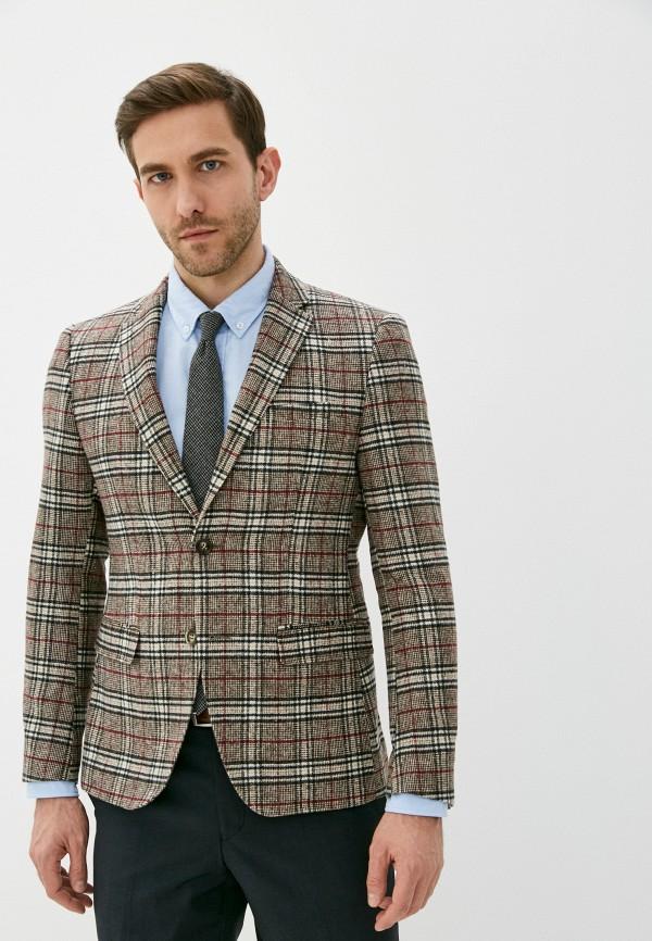 мужской пиджак paul martin's, коричневый