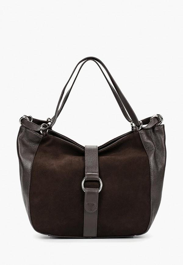 женская сумка с ручками palio, коричневая