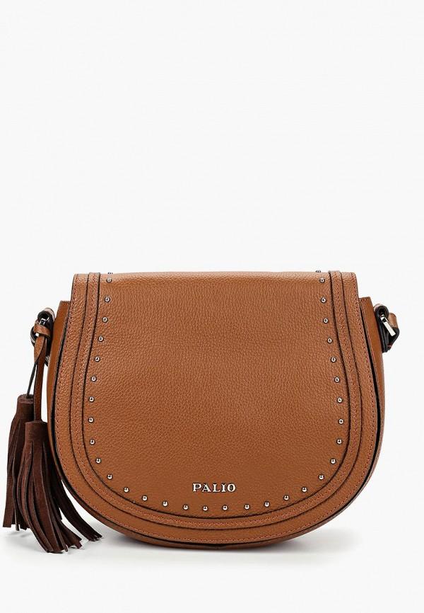 женская сумка через плечо palio, коричневая