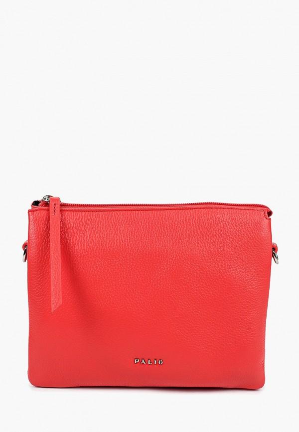 женская сумка через плечо palio, красная