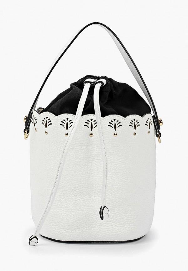 женская сумка-ведро palio, белая