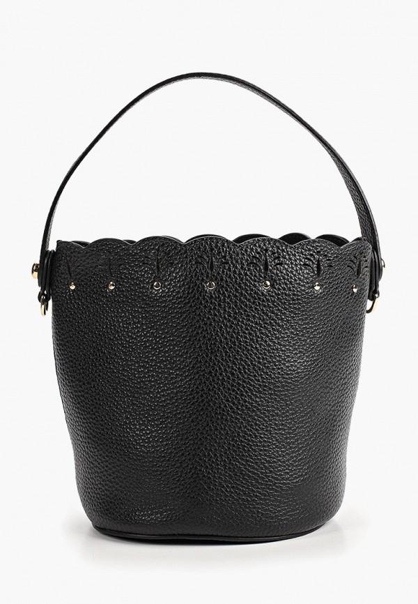 женская сумка-ведро palio, черная