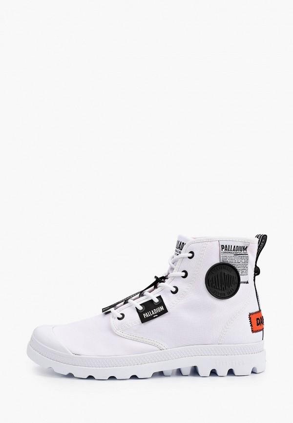 мужские высокие ботинки palladium, белые