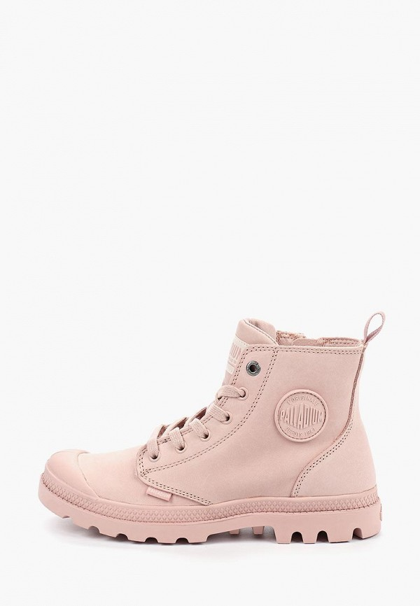 женские ботинки palladium, розовые