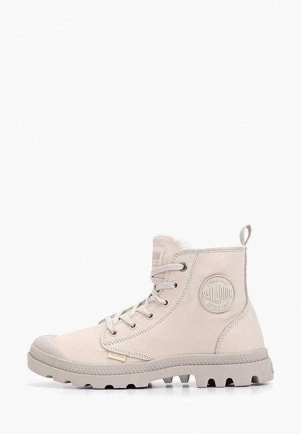 женские ботинки palladium, бежевые