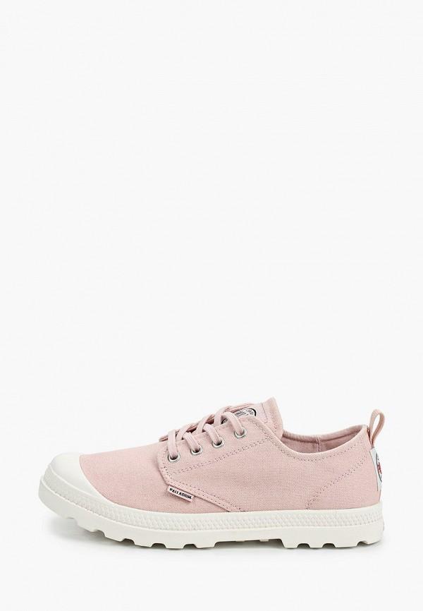женские низкие ботинки palladium, розовые
