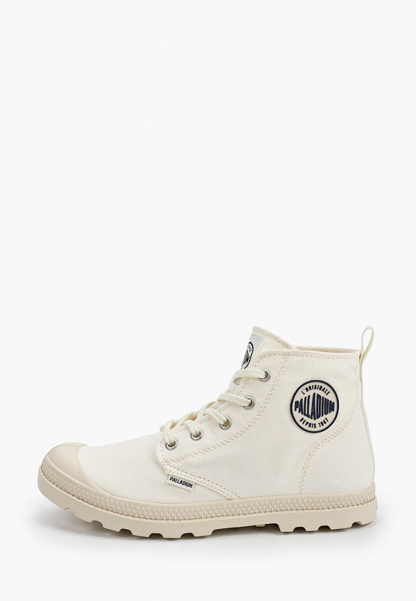женские высокие ботинки palladium, белые