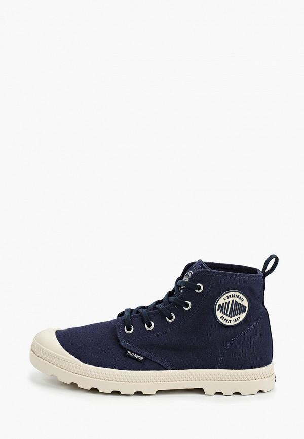 женские высокие ботинки palladium, синие