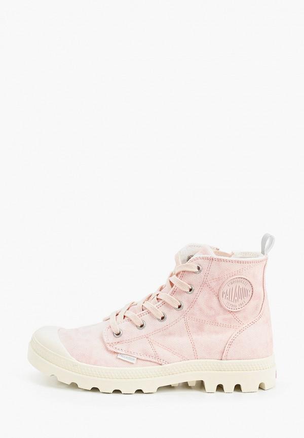 женские высокие ботинки palladium, розовые