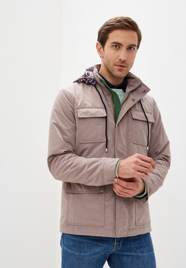 мужская куртка pal zileri, бежевая