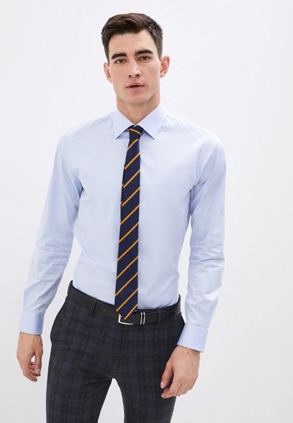 мужская рубашка с длинным рукавом pal zileri, голубая