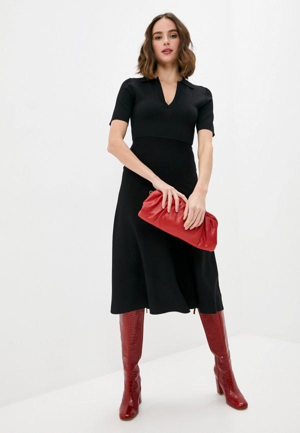 женское повседневные платье p.a.r.o.s.h, черное