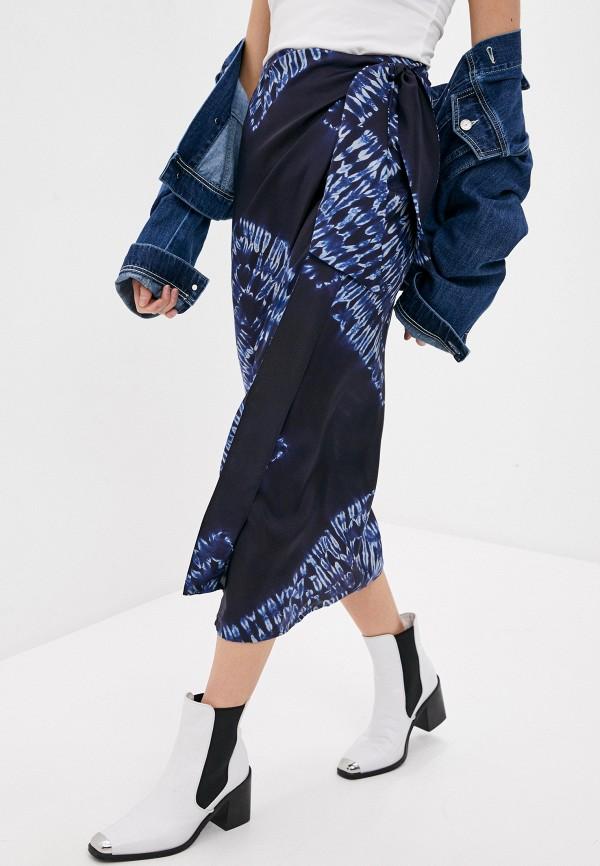 женская зауженные юбка p.a.r.o.s.h, синяя