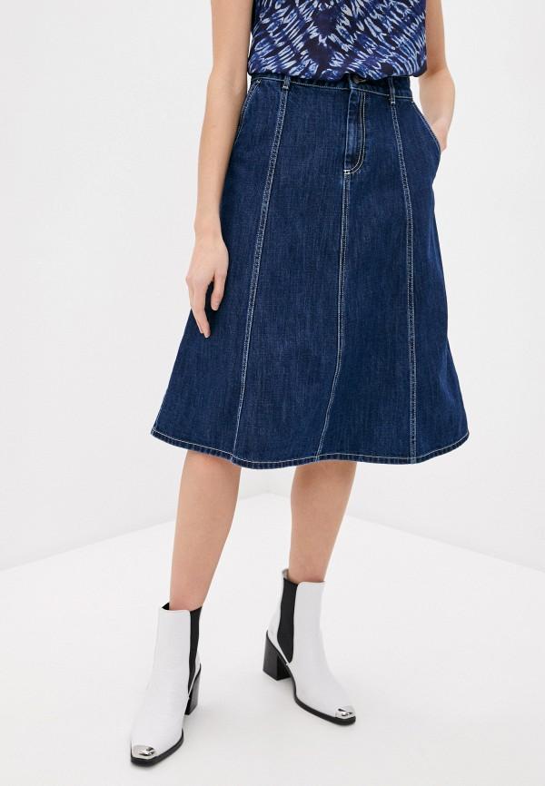 женская джинсовые юбка p.a.r.o.s.h, синяя
