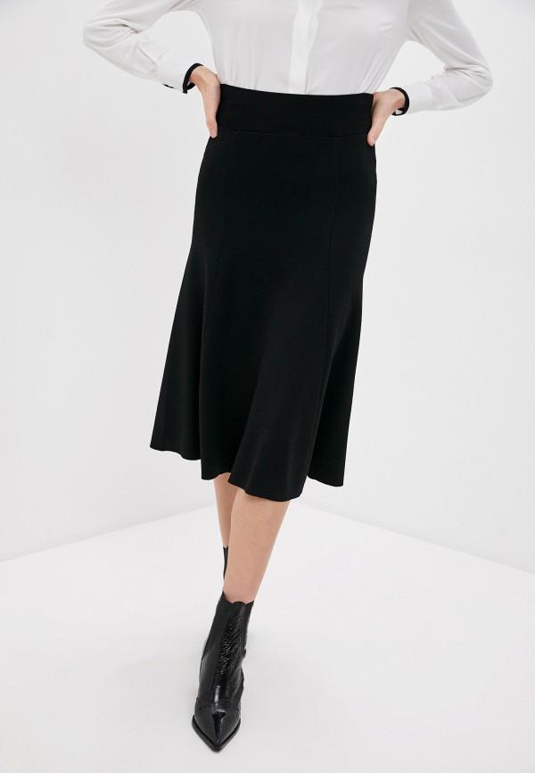 женская юбка p.a.r.o.s.h, черная