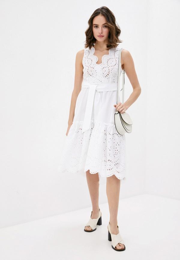 женское повседневные платье p.a.r.o.s.h, белое