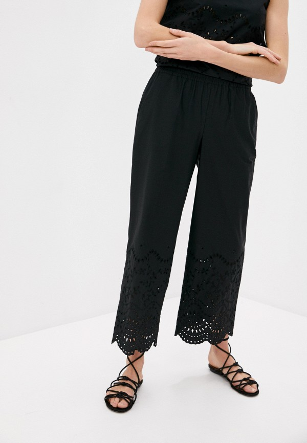 женские повседневные брюки p.a.r.o.s.h, черные