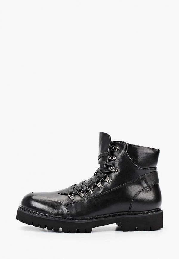 мужские высокие ботинки paolo conte, черные