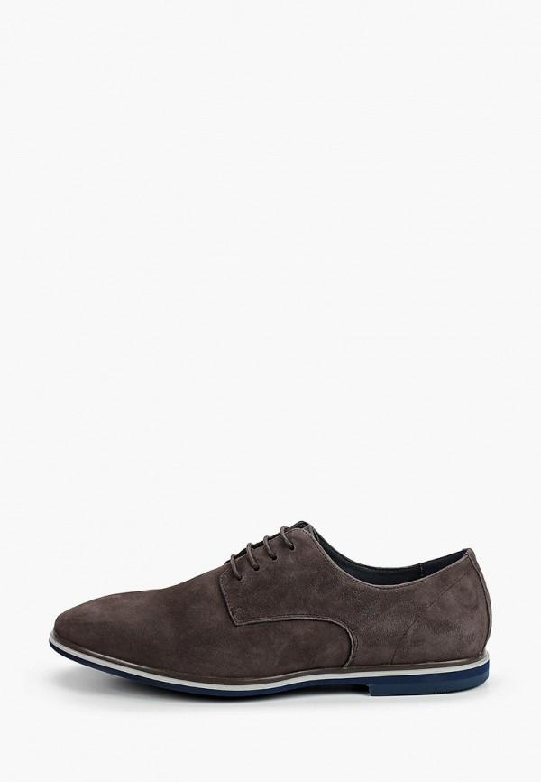 мужские туфли-дерби paolo conte, серые