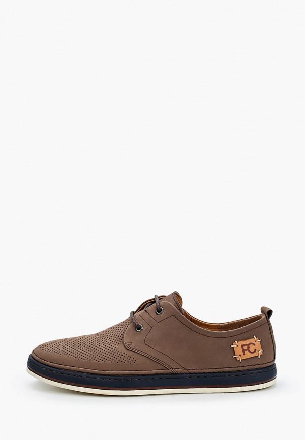 мужские туфли-дерби paolo conte, коричневые