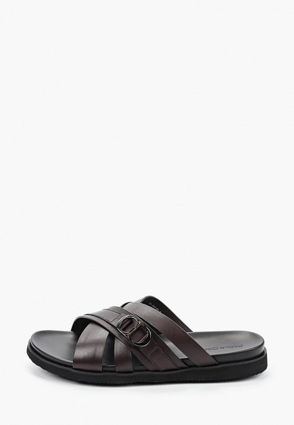 мужские сандалии paolo conte, коричневые