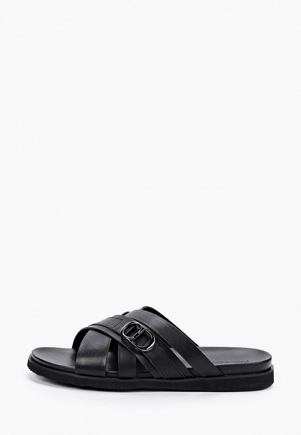 мужские сандалии paolo conte, черные