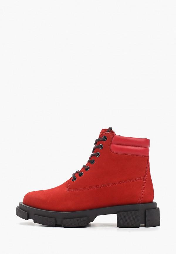 женские высокие ботинки paolo conte, красные