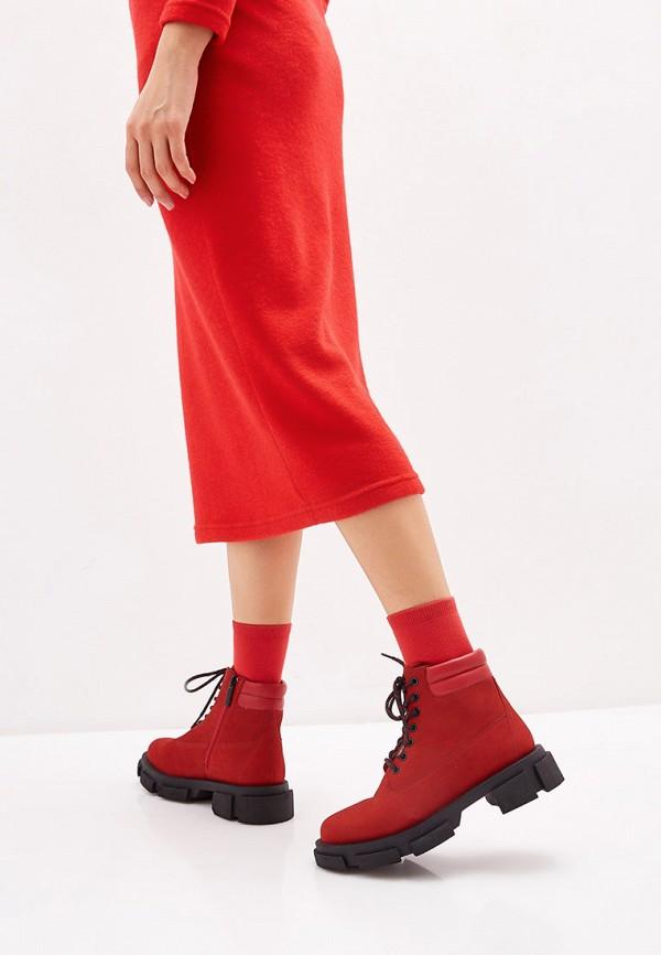 Фото 6 - женские ботинки и полуботинки Paolo Conte красного цвета