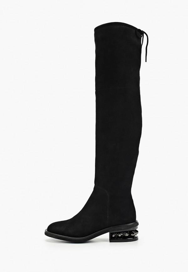 женские ботфорты paolo conte, черные