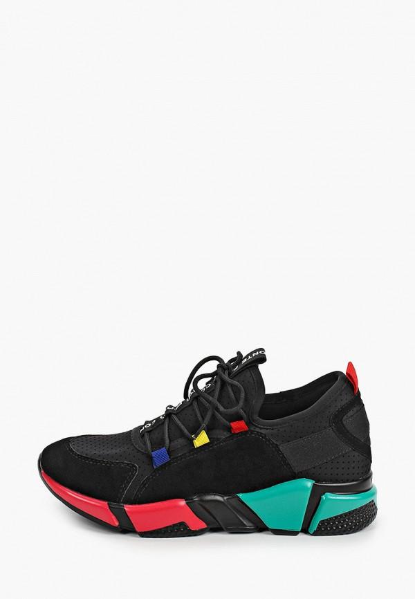 женские низкие кроссовки paolo conte, черные