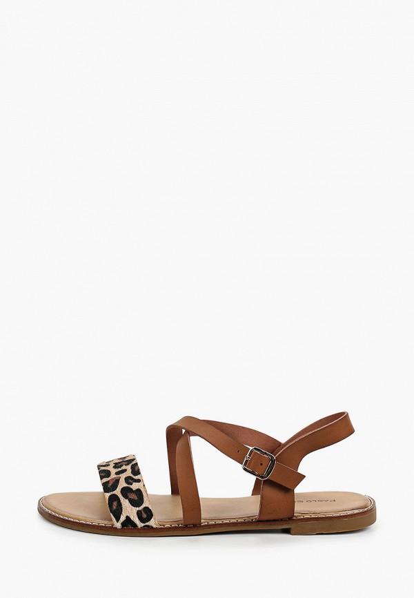 женские сандалии paolo conte, коричневые