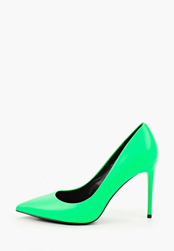женские туфли-лодочки paolo conte, зеленые