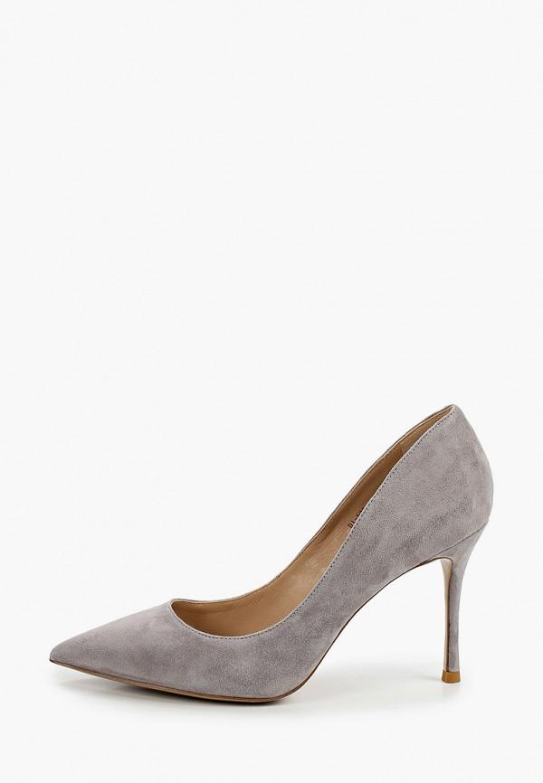 женские туфли-лодочки paolo conte, серые