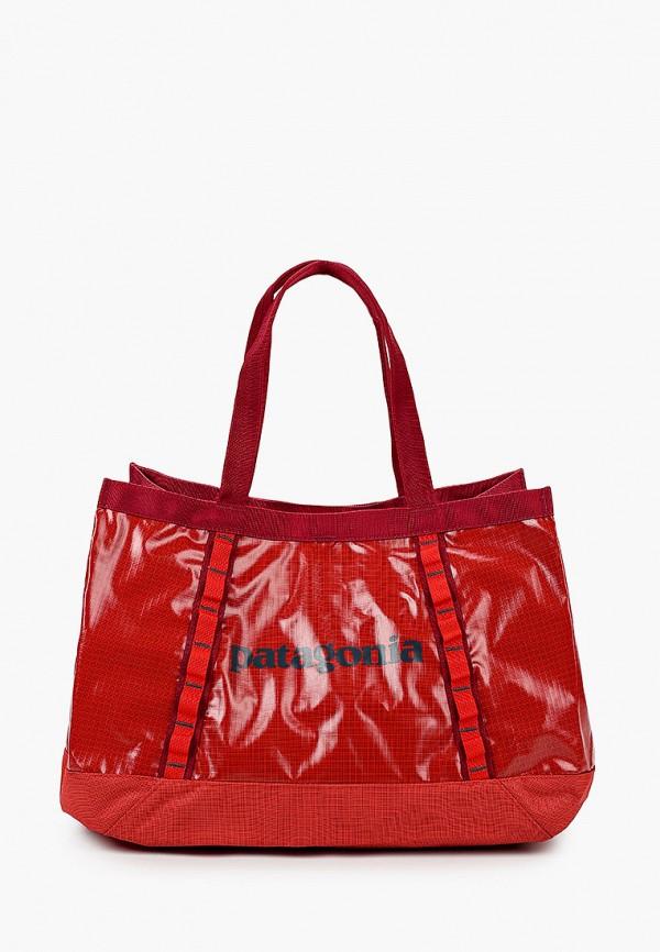 женская спортивные сумка patagonia, красная