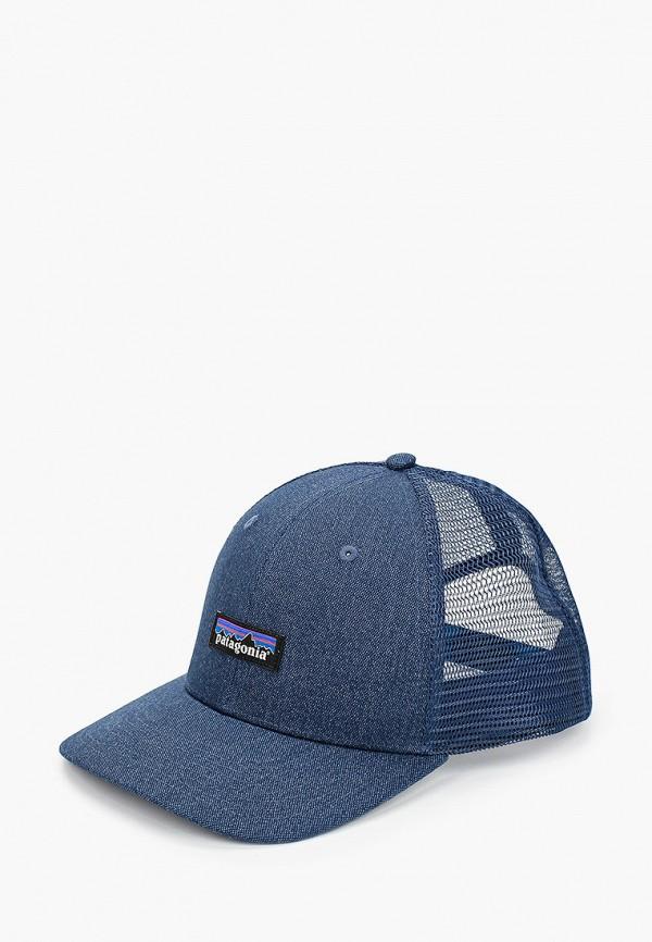 женская бейсболка patagonia, синяя
