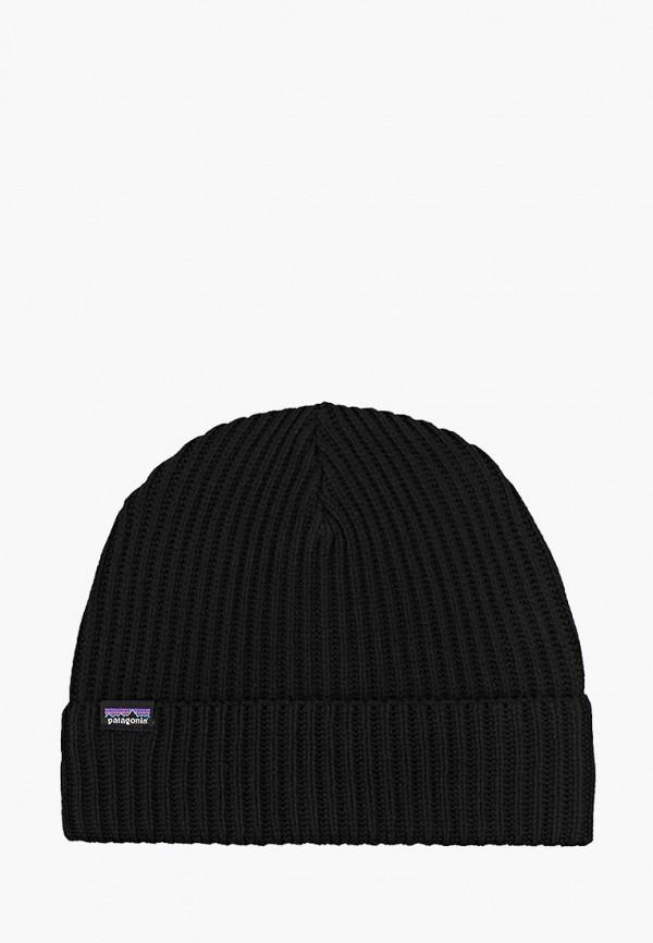 женская шапка patagonia, черная