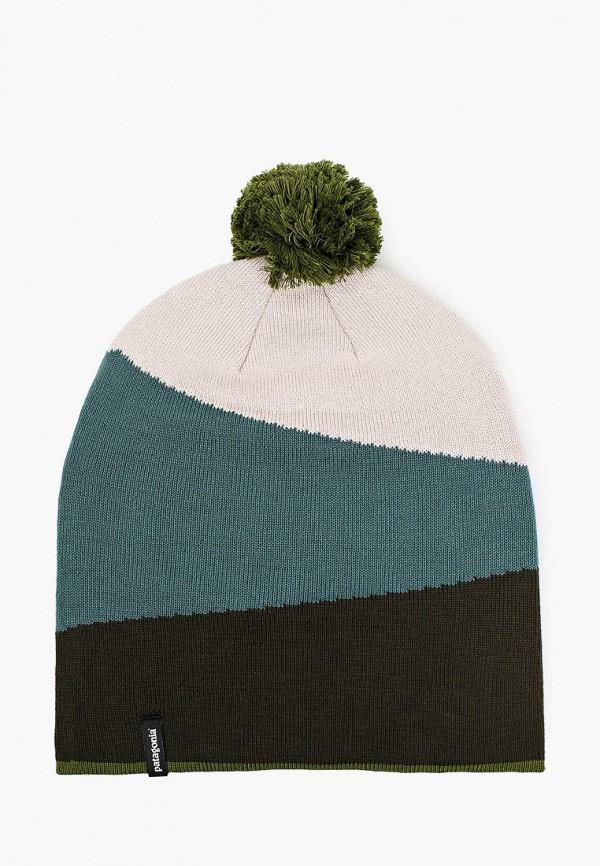женская шапка patagonia, разноцветная