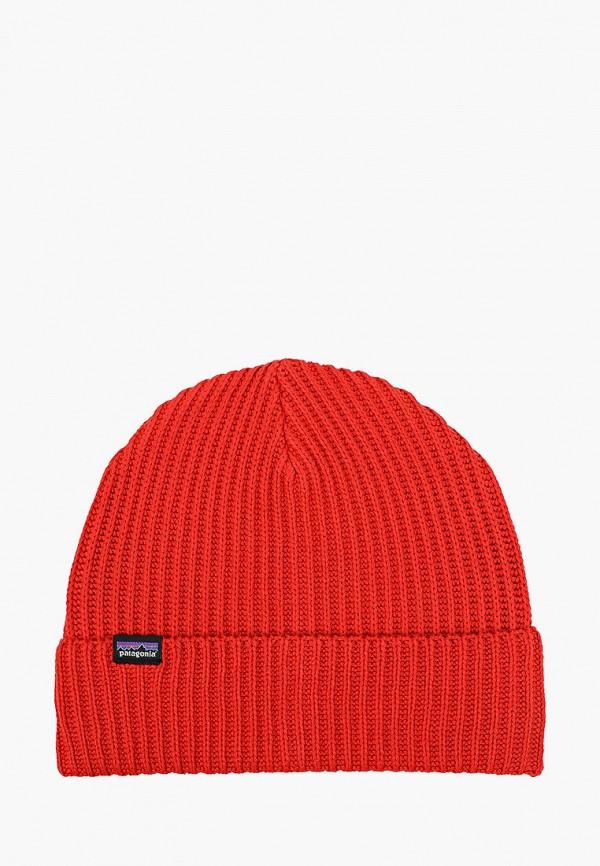 женская шапка patagonia, красная
